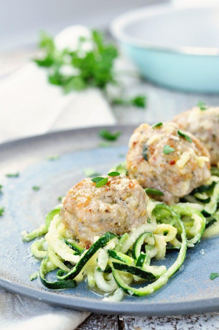 Garlic Butter Chicken Meatballs