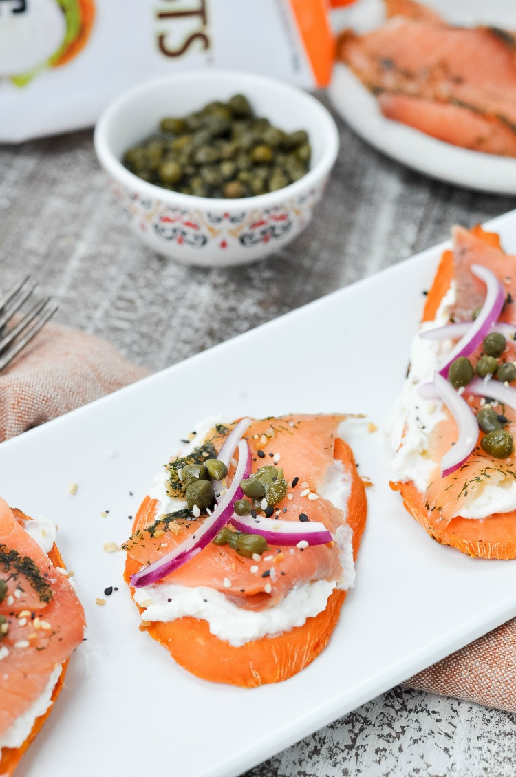 Smoked Salmon Sweet Potato Toasts