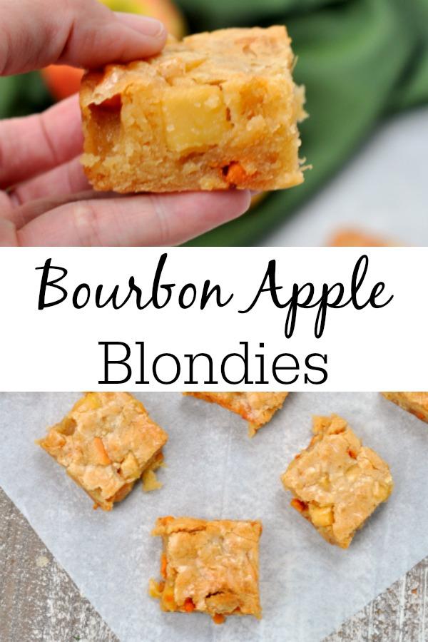 Bourbon Apple Blondies