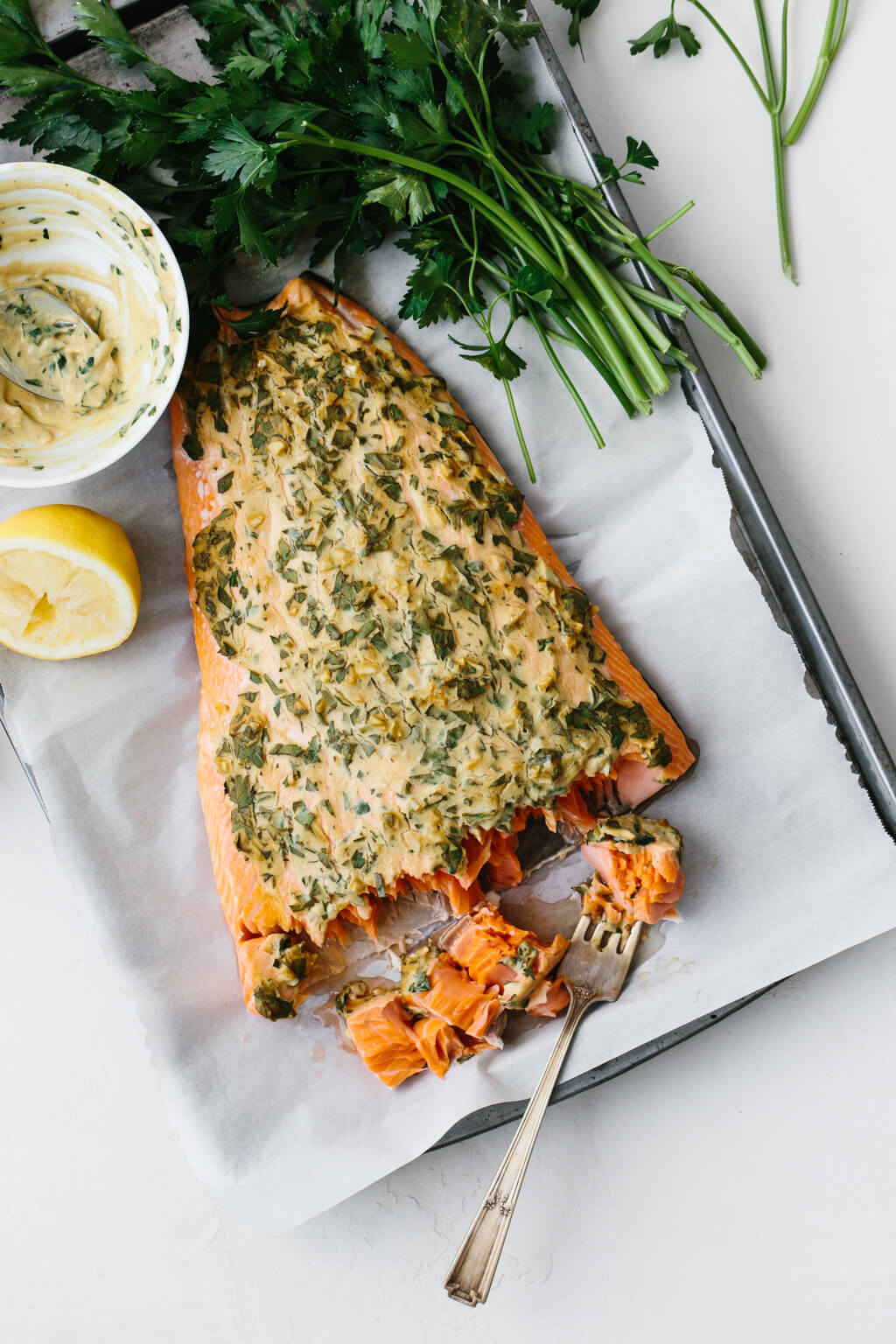 Dijon Baked Salmon from Downshiftology