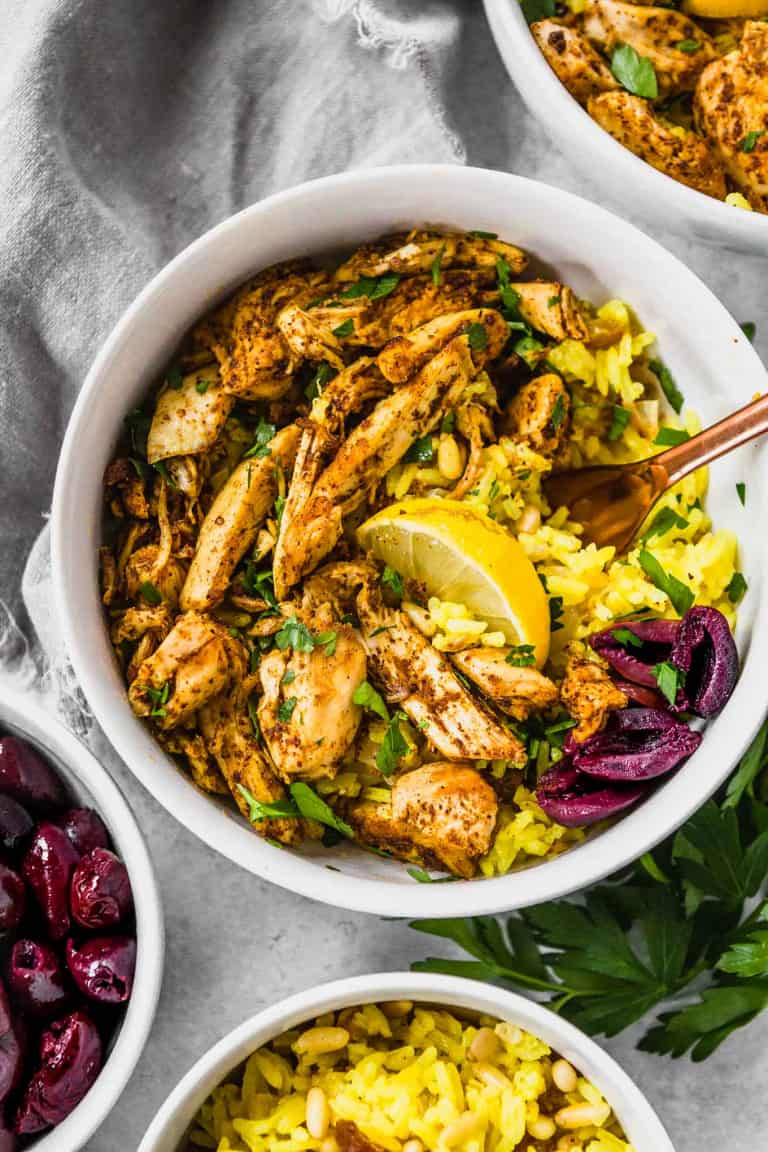 Crockpot Chicken Shawarma from A Clean Bake