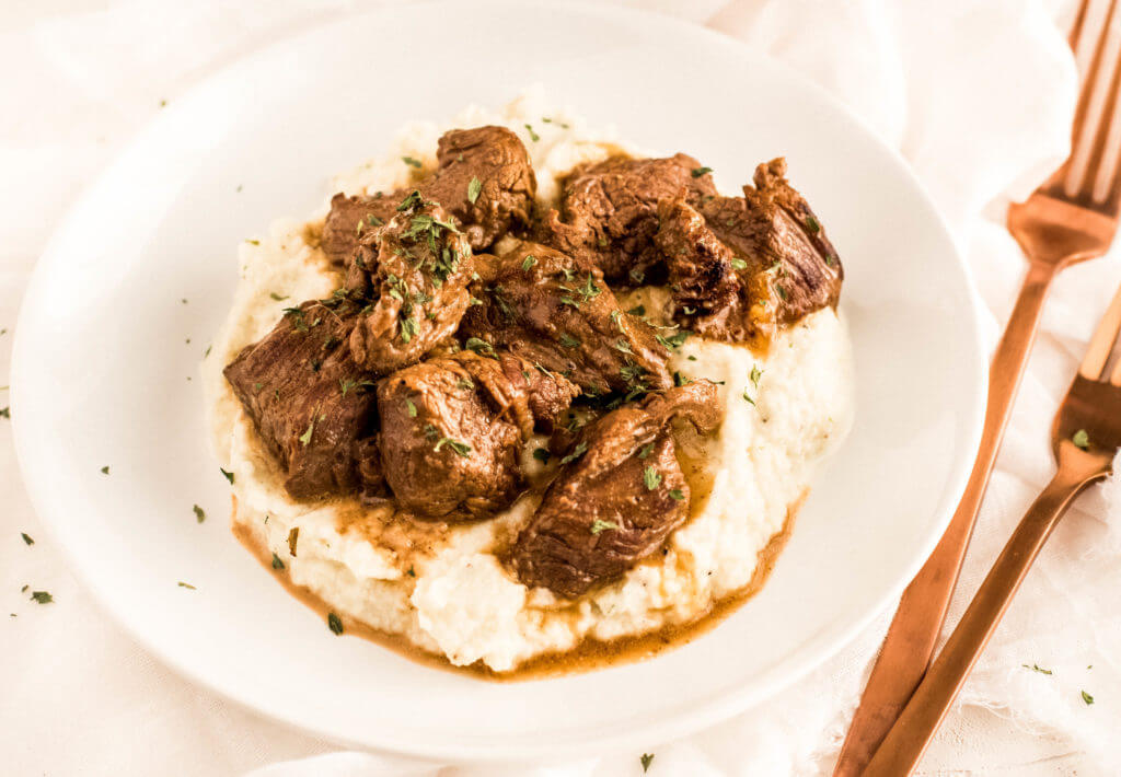 Beef Tips with Gravy from Healthy Little Peach