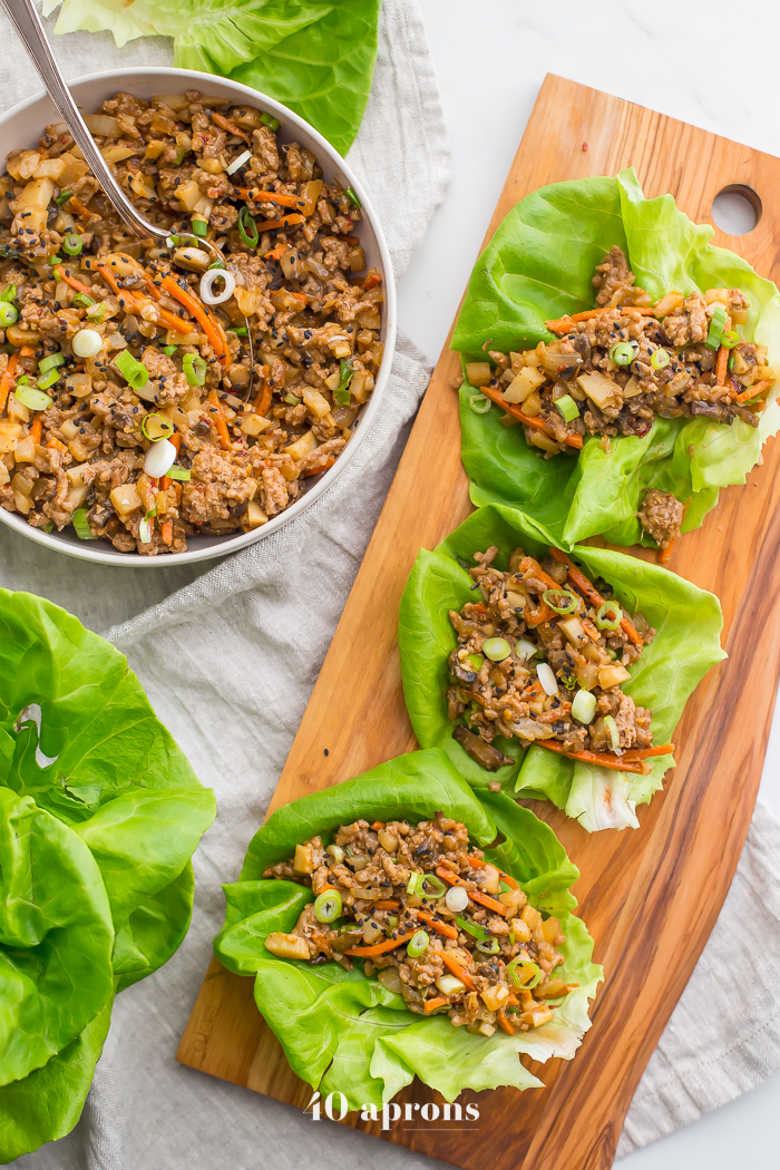 Whole30 Lettuce Wraps from 40 Aprons