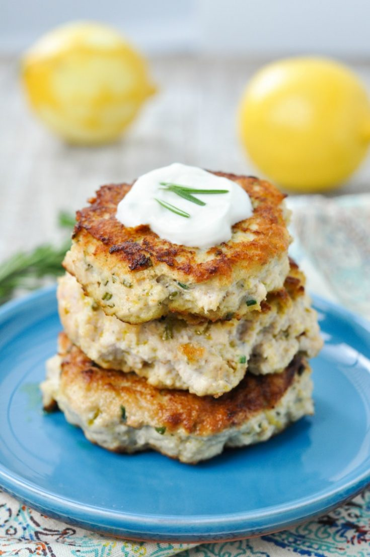 Paleo Rosemary Lemon Chicken Burgers