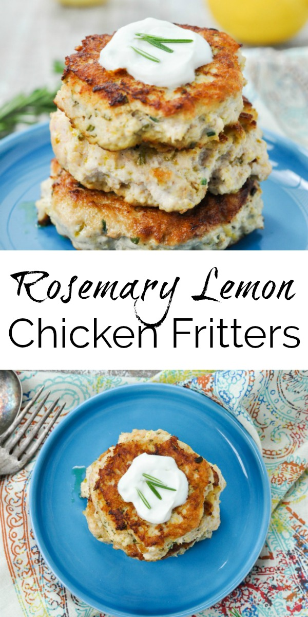 Paleo Rosemary Lemon Chicken Fritters