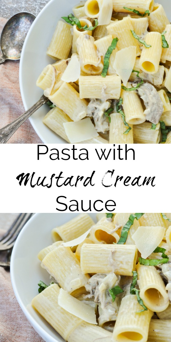 Pasta with Mustard Cream Sauce