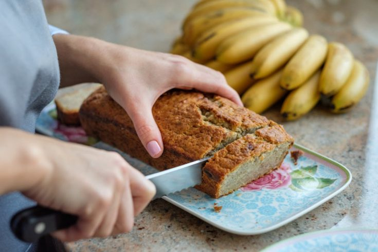Easy 3 Ingredient Banana Bread with Cake Mix