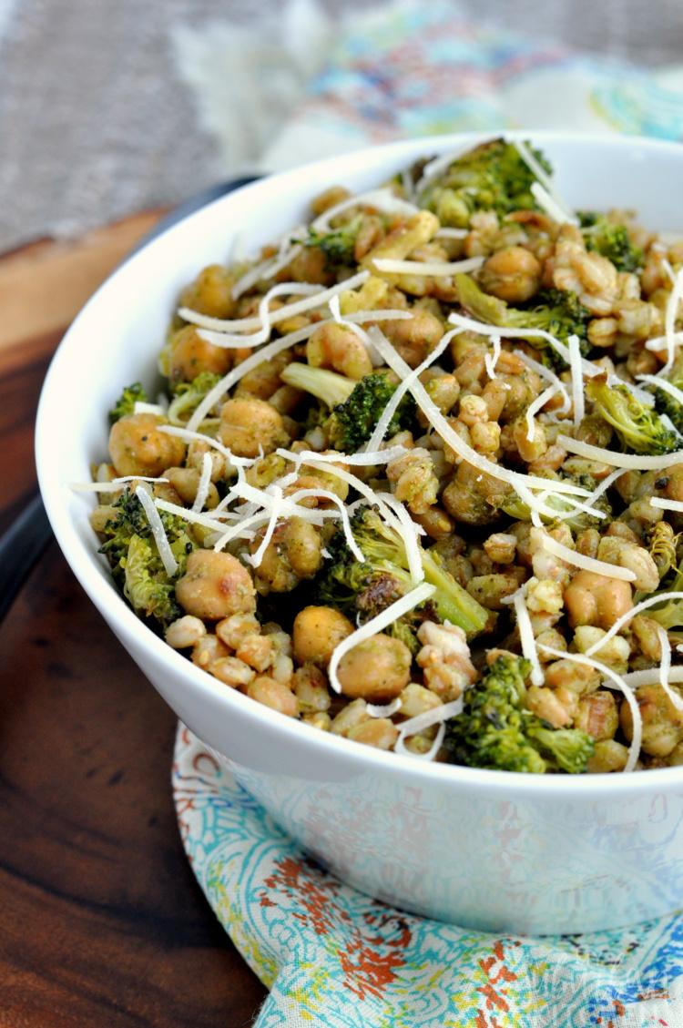 Roasted Broccoli and Chickpea Salad